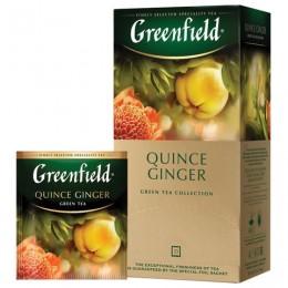 Чай GREENFIELD (Гринфилд) Quince Ginger, зеленый, айва-имбирь, 25 пакетиков в конвертах по 2 г, 1388-10