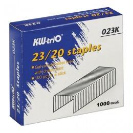 Скобы для степлера KW-trio № 23/20, 1000 штук, в картонной коробке, до 170 листов, -023K