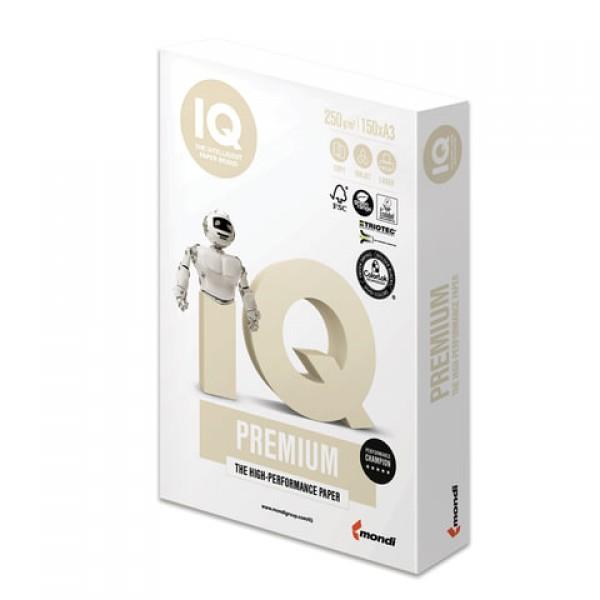 Бумага IQ PREMIUM БОЛЬШОЙ ФОРМАТ (297х420 мм), А3, 250 г/м2, 150 л., класс