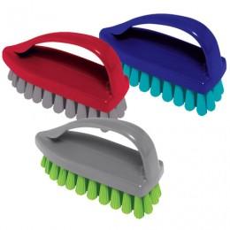 Щетка для одежды/обуви, средняя, 8х11х5 см, пластик, цвет ассорти,