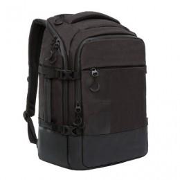 Рюкзак GRIZZLY деловой, 2 отделения, карман для ноутбука, черный, 45x32x21 см, RQ-019-2/1