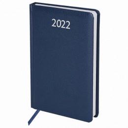 Ежедневник датированный 2022 А5 (138х213мм) BRAUBERG Profile синий, 111384, 112765