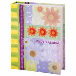Фотоальбом BRAUBERG на 200 фотографий 10х15 см, твердая обложка, Настроение, разноцветный, 390670
