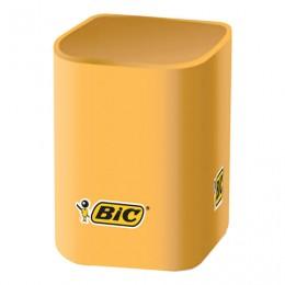 Подставка-органайзер (стакан для ручек) с логотипом BIC, 7х7х10 см, пластиковый, 935660
