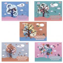 Альбом для рисования, А4, 12 л., обложка картон, HATBER