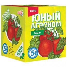 Набор для выращивания растений ЮНЫЙ АГРОНОМ Томат, горшок, грунт, семена, LORI, Р-015