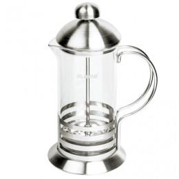 Заварник (френч-пресс) ЛАЙМА Элит, 350 мл, жаропрочное стекло/нержавеющая сталь + пластиковая ложка, 601367