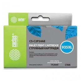 Картридж струйный CACTUS (CS-C2P24AE) для HP Officejet Pro 6830/6230, голубой, ресурс 1000 стр.