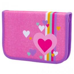 Пенал TIGER FAMILY 1 отделение, 1 откидная планка, ткань, Pink Amour, 20х14х4 см, 228888, TGNQ-041C1E