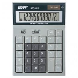 Калькулятор настольный STAFF STF-3312 (193х140 мм), 12 разрядов, двойное питание, КОМПЬЮТЕРНЫЕ КЛАВИШИ, 250290