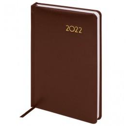Ежедневник датированный 2022 А5 (138х213мм) BRAUBERG Select коричневый, ко, 112778