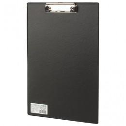 Доска-планшет BRAUBERG Comfort с прижимом А4 (230х350 мм), картон/ПВХ, РОССИЯ, ЧЕРНАЯ, 222657