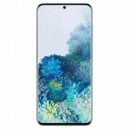 "Смартфон SAMSUNG Galaxy S20, 2 SIM, 6,2"", 4G (LTE), 64/10 + 12 + 12 Мп, 128 ГБ, голубой, металл, SM-G980FLBDSER"