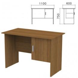 Стол письменный Канц, 1100х600х750 мм, тумба с дверью, цвет орех пирамидальный, СК26.9