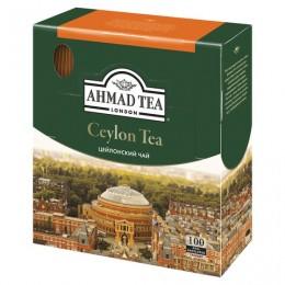 Чай AHMAD Ceylon Tea, черный, 100 пакетиков с ярлычками по 2 г, 163i-08