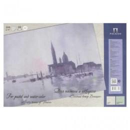 Папка для пастели и акварели/планшет А4, 20 листов, 2 цвета, 200 г/м2, тонированная бумага, Венеция, ПЛ-6433