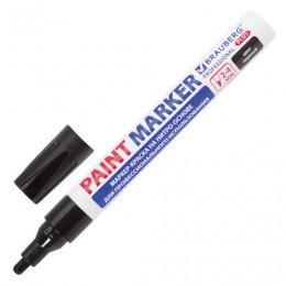 (СКОРО ПРИДЕТ) Маркер-краска лаковый (paint marker), 2-4 мм, черный, НИТРО-ОСНОВА, алюминиевый корпус, BRAUBERG PRO, 151445
