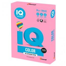 Бумага IQ color БОЛЬШОЙ ФОРМАТ (297х420 мм), А3, 80 г/м2, 500 л., пастель, розовая, PI25