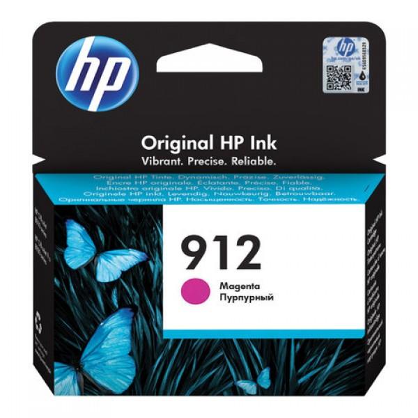 Картридж струйный HP (3YL78AE) для HP OfficeJet Pro 8023, №912 пурпурный, ресурс 315 страниц, оригинальный