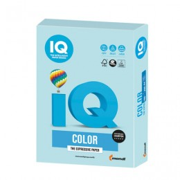 Бумага IQ color, А4, 160 г/м2, 250 л., пастель, голубая, MB30