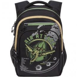 Рюкзак GRIZZLY школьный, анатомическая спинка, д/мальч, AIR ATTACK, 38х26х20 см, RB-150-1/2