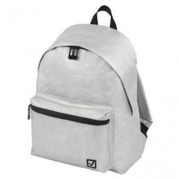 Рюкзак BRAUBERG MIRACLE крафтовый с водонепроницаемым покрытием, серебристый, 34х26х11 см, 229891