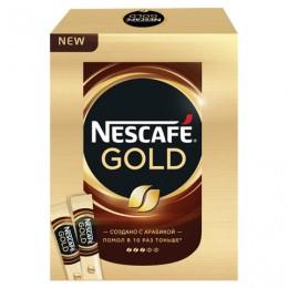 Кофе молотый в растворимом NESCAFE Gold, сублимированный, 20 пакетов по 2 г (упаковка 40 г), 11337476