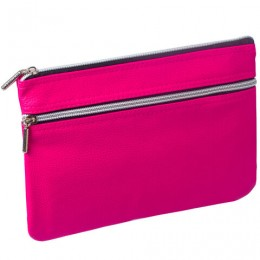 Пенал-косметичка BRAUBERG под фактурную кожу, розовый, 1 отделение, 2 кармана, Монро, 24х17 см, 224037