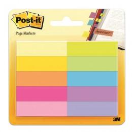 Закладки клейкие POST-IT Professional, бумажные, 12,7 мм, 10 цветов х 50 шт., 670-10AB