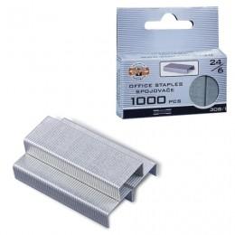 Скобы для степлера KOH-I-NOOR № 24/6, 1000 штук в картонной коробке с подвесом, до 20 листов, 9600308112KS