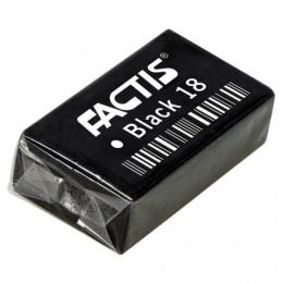 Резинка стирательная FACTIS Black 18 (Испания), прямоугольная, 41х24х13 мм, супермягкая, ПВХ, CPFBL18