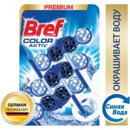Освежитель WC (для туалета) твердый 3х50 г BREF (Бреф) Active, С хлор-компонентом, 2393778