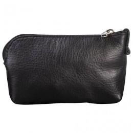 Футляр для ключей FABULA Estet, натуральная кожа, на молнии, 75x125x25 мм, черный, KL16.MN