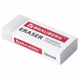 Ластик BRAUBERG EXTRA, 50х24х10 мм, бумажный рукав, ЭКО-ПВХ, 228075