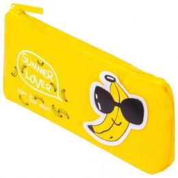 Пенал-косметичка BRAUBERG, канвас с аппликацией, Cool Banana, 19х4х8 см, 228999