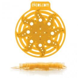 Коврики-вставки для писсуара, ЭКОС (POWER-SCREEN), на 30 дней каждый, комплект 2 шт., аромат Апельсин, цвет оранжевый, PWR-4O