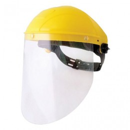 Щиток защитный лицевой РОСОМЗ НБТ1 Визион, экран из поликарбоната 220х315 мм, толщиной 0,75 мм, ударопрочный козырек, наголовное крепление, 413130