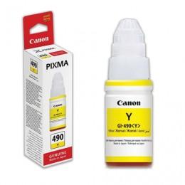 Чернила CANON (GI-490Y) для СНПЧ Pixma G1400G2400G3400, желтый, ресурс 7000 стр., оригинальные, 0666C001