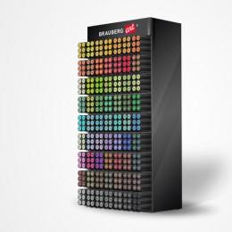 Дисплей настольный для размещения маркеров для скетчинга BRAUBERG ART, 63 ячейки, 378 маркеров, 504908