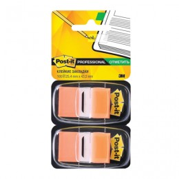 Закладки клейкие POST-IT Professional, пластиковые, 25 мм, 100 шт., оранжевые, 680-OE2