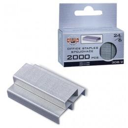 Скобы для степлера KOH-I-NOOR № 24/6, 2000 штук, в картонной коробке с подвесом, до 20 листов, 9600308212KS