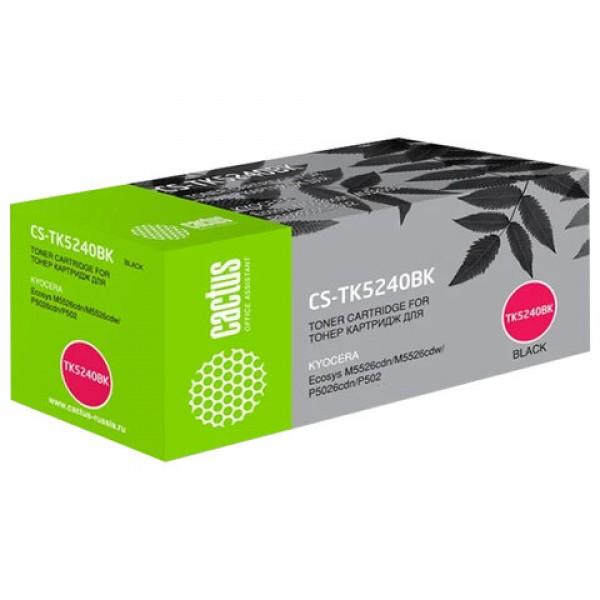 Картридж лазерный CACTUS (CS-TK5240BK) для Kyocera M5526cdn/M5526cdw/P5026cdn, черный, ресурс 4000 страниц