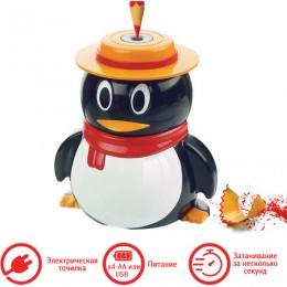 Точилка электрическая BRAUBERG Пингвин, питание от USB/4 батареек АА, 223569