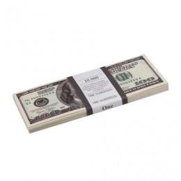 Деньги шуточные 100 долларов, упаковка с европодвесом, AD0000024
