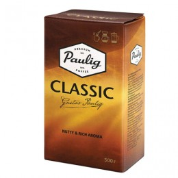 Кофе молотый PAULIG (Паулиг) Classic, натуральный, 500 г, вакуумная упаковка, 16325