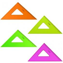 Треугольник пластиковый 45х16 см, СТАММ Neon Crystal, тонированный, прозрачный, неоновый, ассорти, ТК57