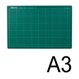 Коврик-подкладка настольный для резки KW-trio, А3 (450х300 мм), толщина 3 мм, сантиметровая шкала, -9Z201