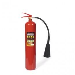 Огнетушитель углекислотный ОУ-5, ВСЕ (жидкие, газообразные вещества, электроустановки), закачной, ЯРПОЖ, 52