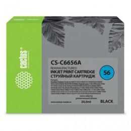 Картридж струйный CACTUS (CS-C6656A) для HP Deskjet 5150/5550/5600/5850, черный, 21 мл