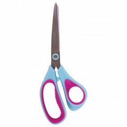 Ножницы BRAUBERG Extra, 190 мм, ассиметричные, ребристые резиновые вставки, бирюзово-фиолетовые, 236452